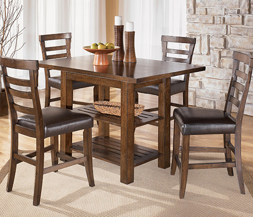 Ashley d544 32 124 pinderton 5 piece square dining room for Dining room table 32 wide
