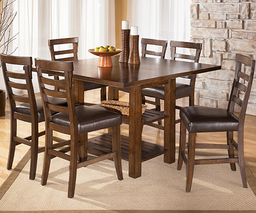 Ashley d544 32 pinderton square dining room counter for Dining room table 32 wide