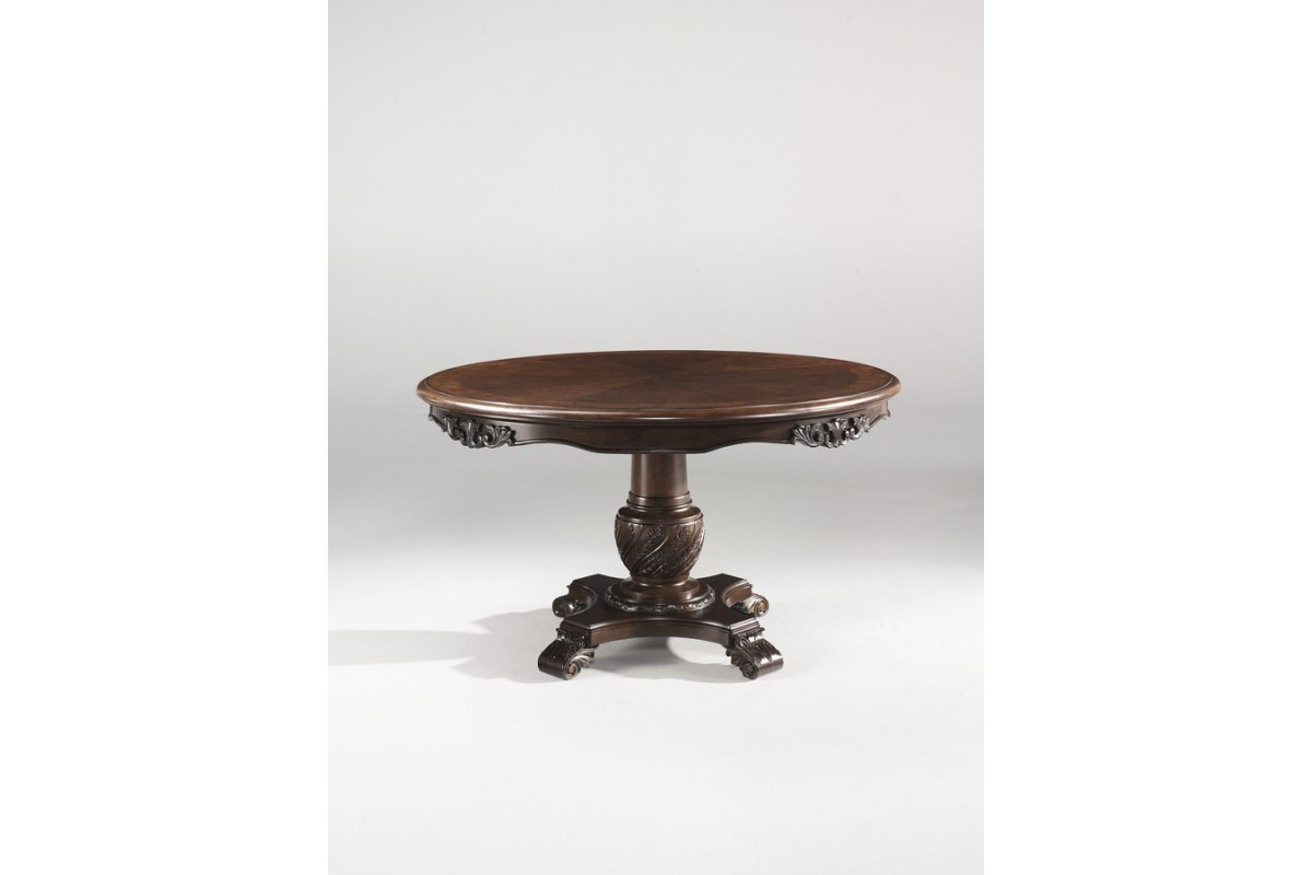 Ashley d553 50b north shore round dining room pedestal for Dining room table pedestal bases