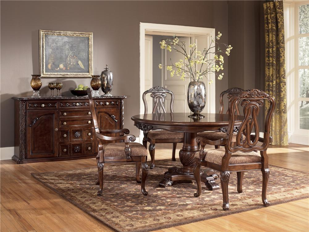 Ashley D553 50t North Shore Round Dining Room Pedestal Table Top
