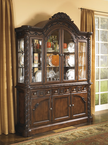 Ashley D553 81 North Shore Dining Room China Cabinet
