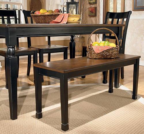 Ashley D580 00 Owingsville Large Dining Room Bench