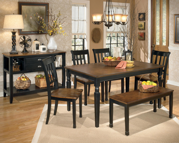 Ashley D580250200 Owingsville 6piece Rectangular Dining Room