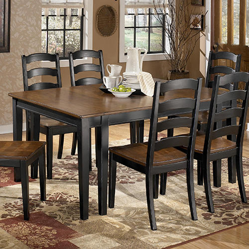 Ashley D580 45 01 Owingsville Dining Room Extensionension Table Set