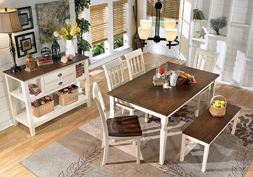 d583-25-02-00 whitesburg 6-piece rectangular dining room table set