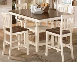 Ashley D583-32-224 Whitesburg 5-piece Square Dining Room Counter Extensionension Table Set with Barstools