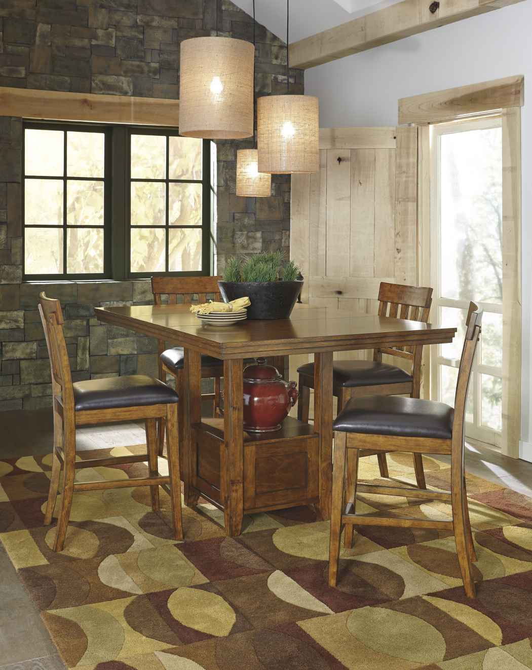Ashley d594 42 ralene rectangular dining room counter extensionension table - Ashley dining rooms ...