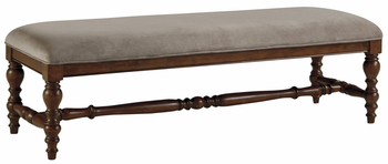 Ashley D700 00 Leximore Large Upholstered Dining Room Bench