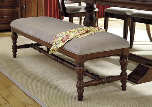 ashley d70000 leximore large upholstered dining room bench