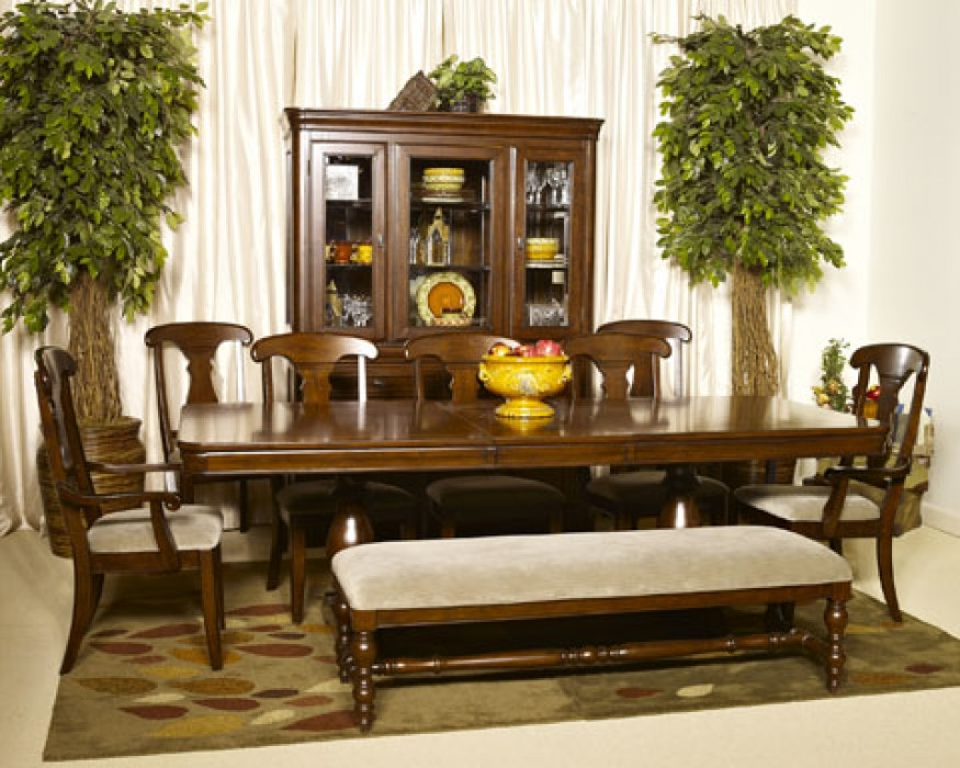 Ashley D700 55B 55T 01 00 Leximore 7 Piece Rectangular Dining Room Pedestal Extension Table Set