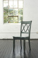 Mestler - D540-101 - Dining Room Side Chair (2/CN) - Blue/Green