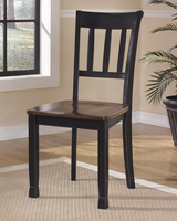 Owingsville - D580-02 - Dining Room Side Chair (2/CN) - Black/Brown