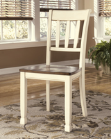 Whitesburg - D583-02 - Dining Room Side Chair (2/CN) - Brown/Cottage White