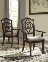 Leahlyn - D626-01A - Dining UPH Arm Chair (2/CN) - Reddish Brown