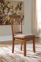 Berringer - D199-01 - Dining UPH Side Chair (2/CN) - Rustic Brown