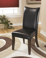 Charrell - D357-04 - Dining UPH Side Chair (2/CN) - Black