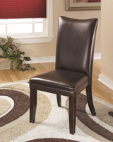 Charrell - D357-01 - Dining UPH Side Chair (2/CN) - Medium Brown