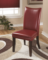 Charrell - D357-03 - Dining UPH Side Chair (2/CN) - Red