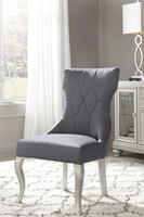 Coralayne - D650-01 - Dining UPH Side Chair (2/CN) - Dark Gray
