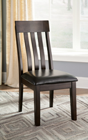Haddigan - D596-01 - Dining UPH Side Chair (2/CN) - Dark Brown
