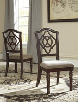 Leahlyn - D626-01 - Dining UPH Side Chair (2/CN) - Reddish Brown