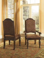 North Shore - D553-02 - Dining UPH Side Chair (2/CN) - Dark Brown