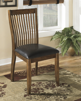 Stuman - D293-01 - Dining UPH Side Chair (2/CN) - Medium Brown