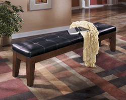 Larchmont - D442-09 - Extra Large UPH DRM Bench - Burnished Dark Brown