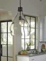 Avalbane - L000468 - Glass Pendant Light (1/CN) - Clear/Gray
