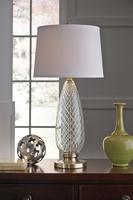 Jannah - L430394 - Glass Table Lamp (1/CN) - Clear/Brass Finish