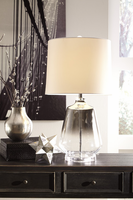 Jaslyn - L430414 - Glass Table Lamp (1/CN) - Silver Finish