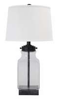 Sharolyn - L430144 - Glass Table Lamp (1/CN) - Transparent/Silver Finish