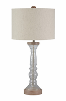 Tad - L430254 - Glass Table Lamp (1/CN) - Clear/Gray