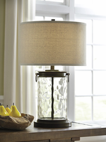 Tailynn - L430324 - Glass Table Lamp (1/CN) - Clear/Bronze Finish