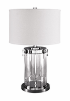 Tailynn - L430244 - Glass Table Lamp (1/CN) - Clear/Silver Finish