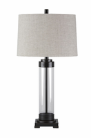 Talar - L430164 - Glass Table Lamp (1/CN) - Clear/Bronze Finish