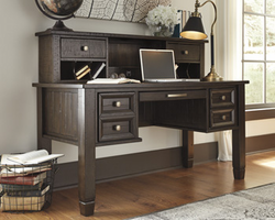 Townser - H636-48 - Home Office Desk Hutch - Grayish Brown
