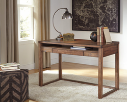 Baybrin - H587-10 - Home Office Small Desk - Rustic Brown