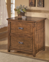 Cross Island - H319-42 - Lateral File Cabinet - Medium Brown