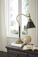 Arvid - L734212 - Metal Desk Lamp (1/CN) - Black/Gold Finish