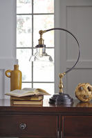 Asahavey - L734222 - Metal Desk Lamp (1/CN) - Antique Bronze Finish
