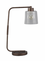 Kyron - L734162 - Metal Desk Lamp (1/CN) - Clear/Bronze Finish