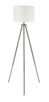 Susette - L204141 - Metal Floor Lamp (1/CN) - Brushed Silver Finish