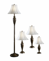 Caron - L603186 - Metal Lamp (4/CN) - Antique Brass Finish