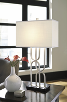 Darielle - L207014 - Metal Table Lamp (1/CN) - Silver Finish