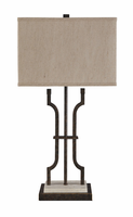 Malik - L531044 - Metal Table Lamp (1/CN) - Brown