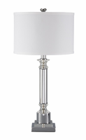Marlon - L428044 - Metal Table Lamp (1/CN) - Clear/Silver Finish