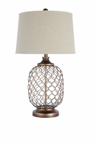 Sanzia - L207824 - Metal Table Lamp (1/CN) - Gold Finish