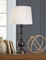 Aadi - L204044 - Metal Table Lamp (2/CN) - Antique Brass Finish