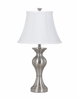 Rishona - L204124 - Metal Table Lamp (2/CN) - Brushed Silver Finish